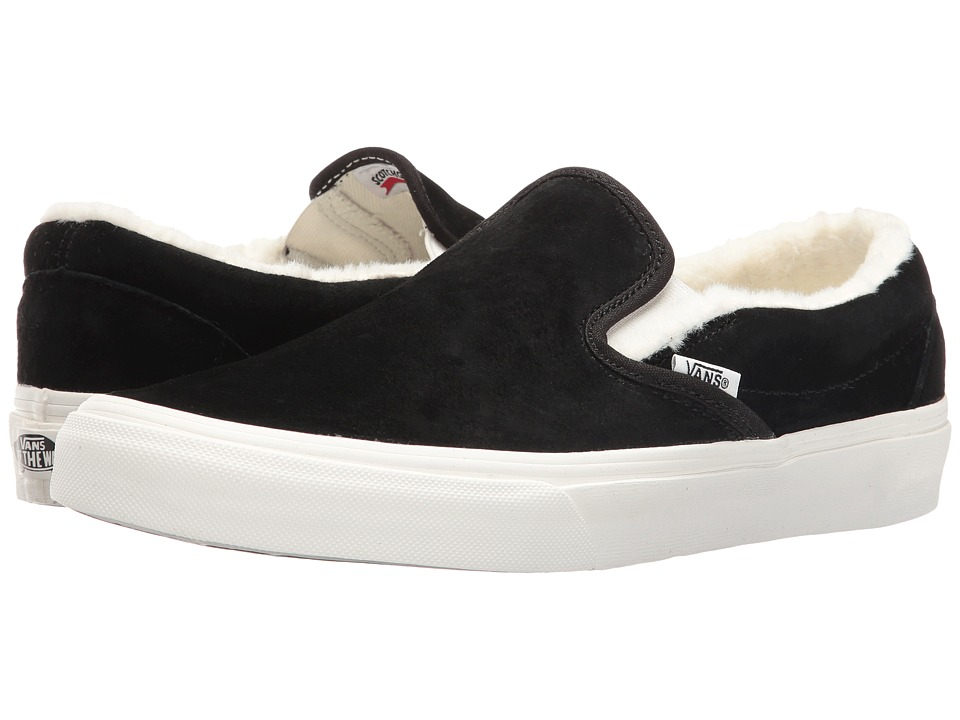 Vans Classic Slip-On ((Scotchgard) Black/Blanc De Blanc) Skate Shoes