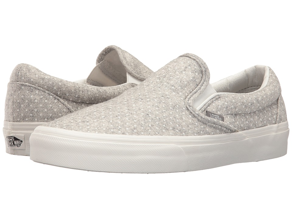 Vans - Classic Slip-On (Blanc De Blanc/Polka Dots) Skate Shoes