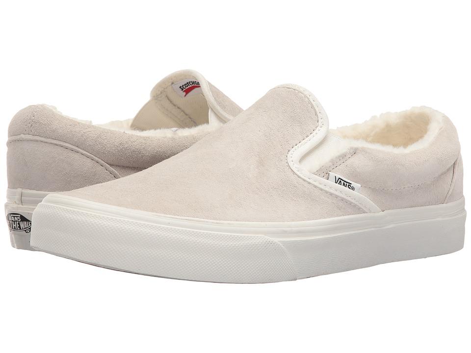 Vans - Classic Slip-On ((Scotchgard) Blanc De Blanc/Blanc De Blanc) Skate Shoes