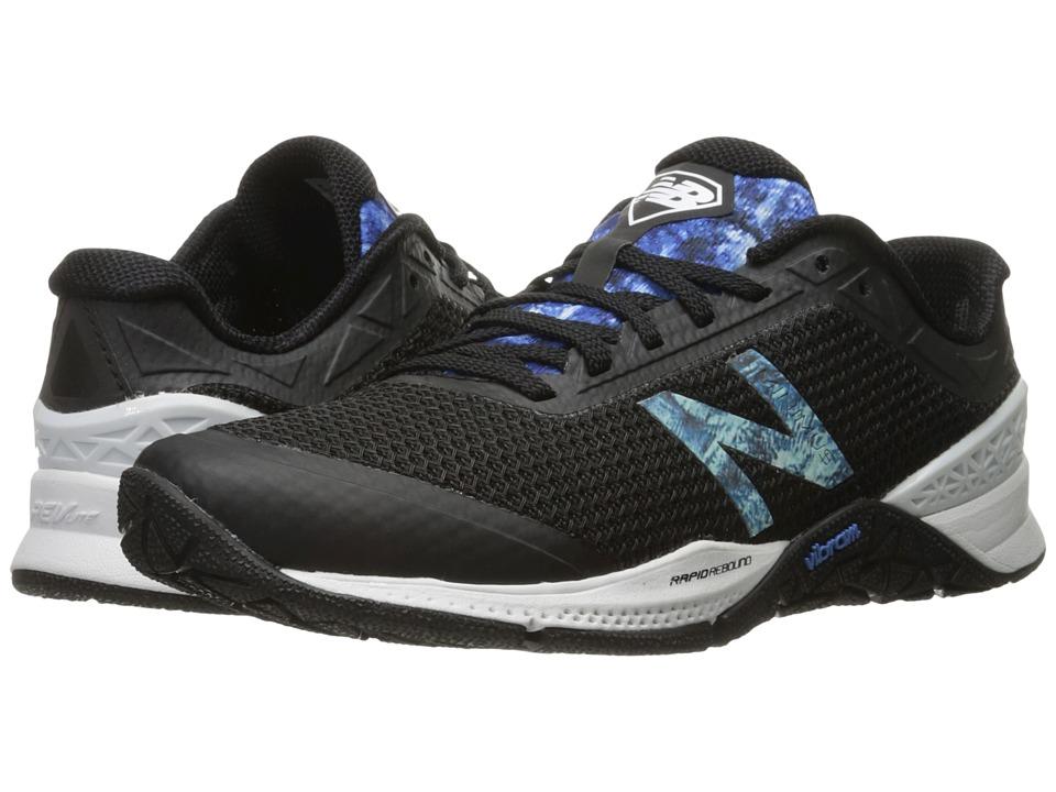 New Balance - WX40v1 (Black/Majestic Blue) Women's Cross Training Shoes