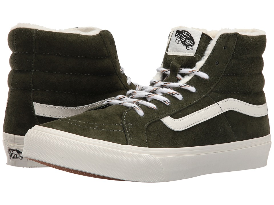 Vans - SK8-Hi Slim ((Scotchgard) Duffel Bag/Blanc De Blanc) Skate Shoes