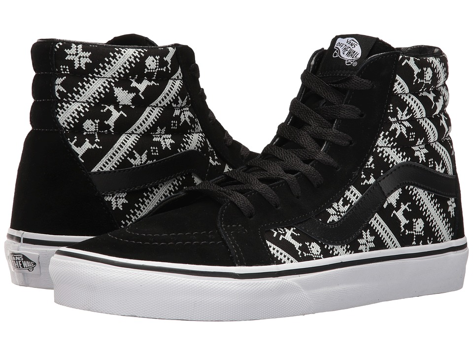 Vans - SK8-Hi Reissue ((Fair Isle) Black/True White) Skate Shoes