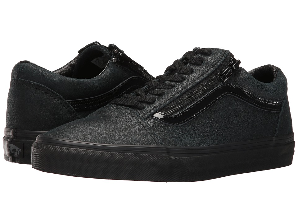 Vans - Old Skool Zip ((Patent Crackle) Black/Black) Lace up casual Shoes