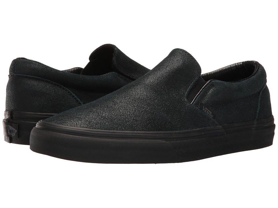 Vans - Classic Slip-On ((Patent Crackle) Black/Black) Skate Shoes