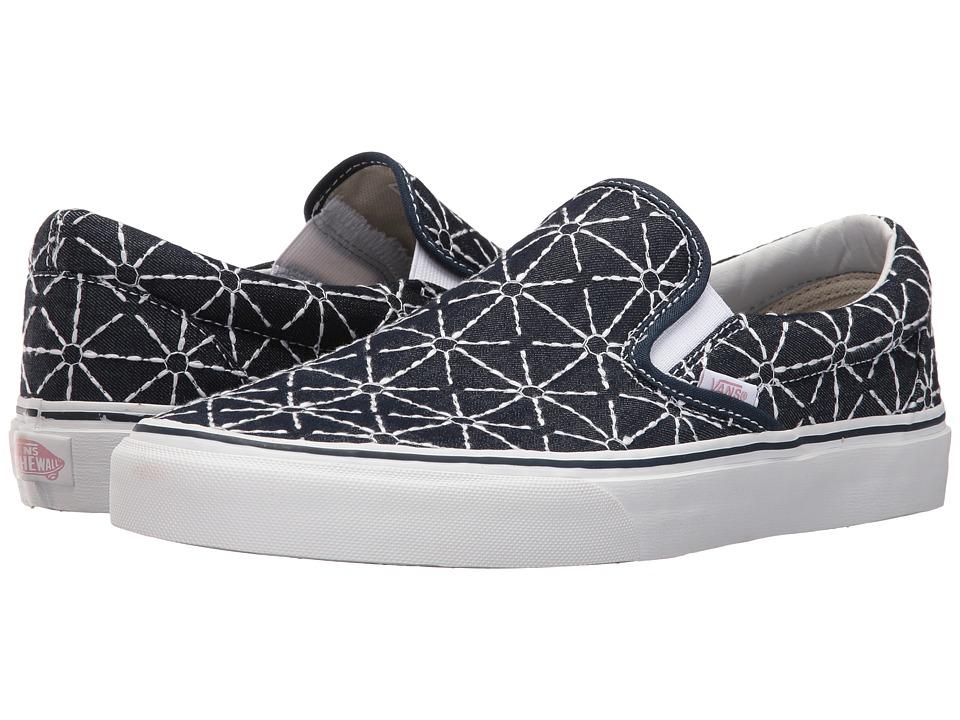 Vans - Classic Slip-On ((Quilted Denim) Dress Blues/Zephyr) Skate Shoes