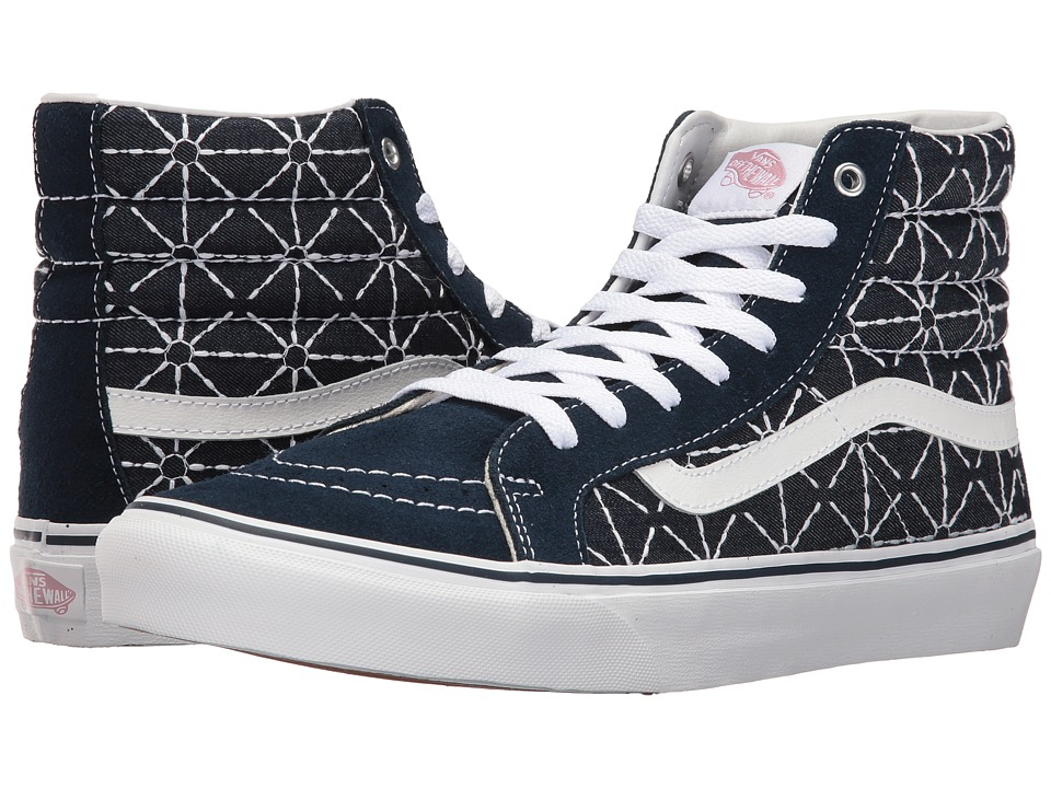 Vans - SK8-Hi Slim ((Quilted Denim) Dress Blues/Zephyr) Skate Shoes
