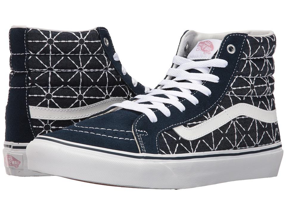 Vans - SK8-Hi Slim ((Quilted Denim) Dress Blues/Zephyr) Skate Shoes