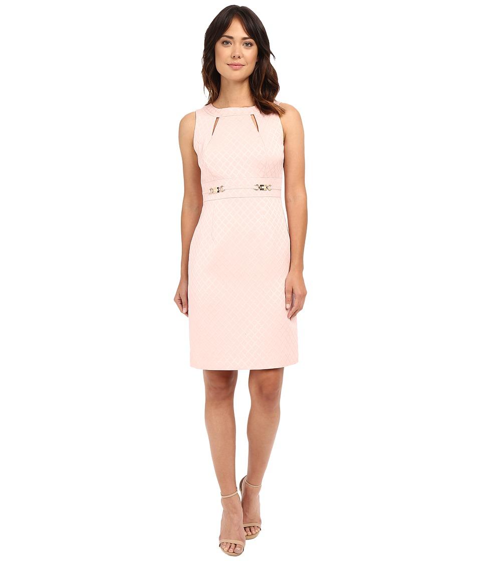Tahari by ASL - Cut Out Neck Sheath Dress w/ Hardware (Blush Pink) Women's Dress