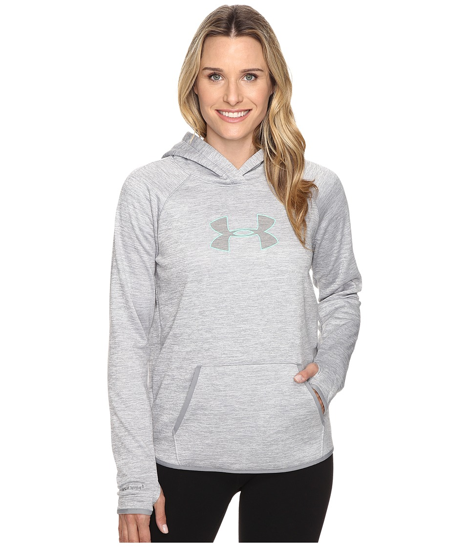 Under Armour - Storm New UA Logo Hood Twist (Steel/Crystal) Women's Clothing