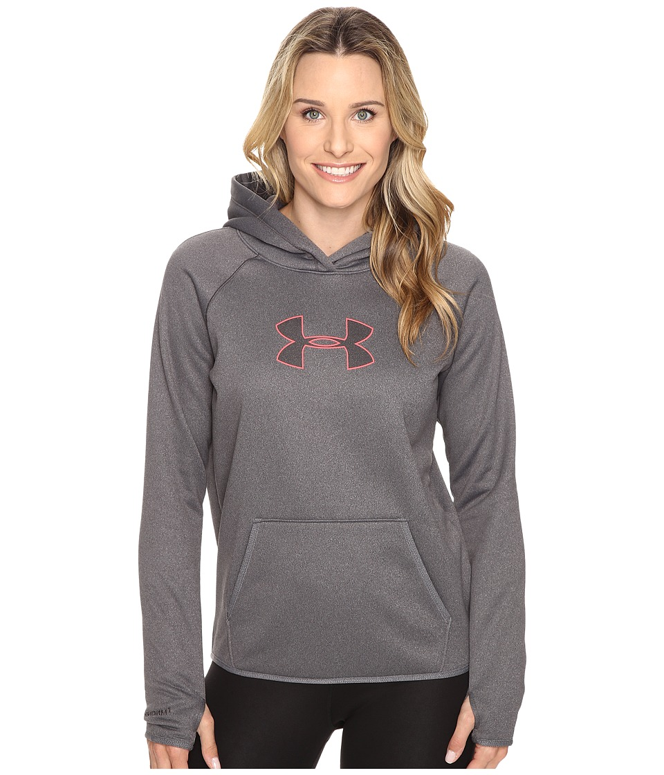 Under Armour - Storm New UA Logo Hoodie (Carbon Heather/Pink Sky/Black) Women's Sweatshirt