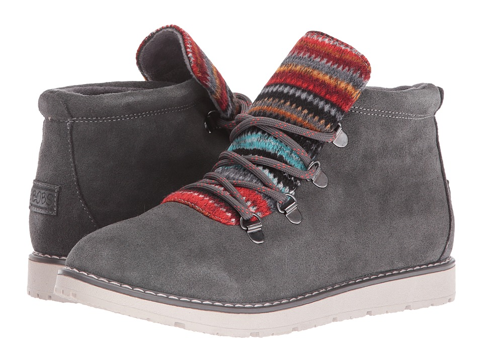 BOBS from SKECHERS - Bobs Alpine - S'Mores (Charcoal) Women's Lace-up Boots