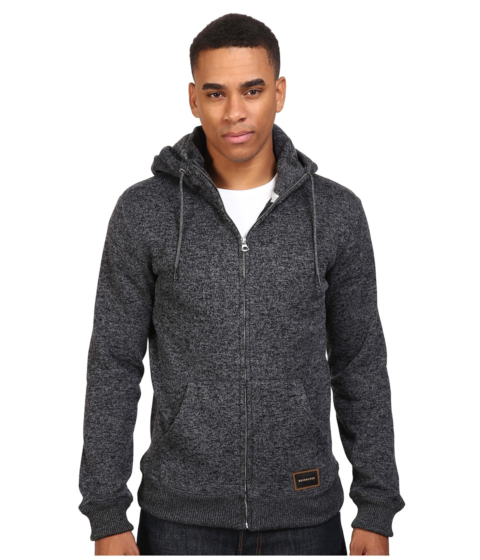 Quiksilver - Keller Polar Fleece Zip-Up Sweatshirt (Tarmac) Men's Sweatshirt