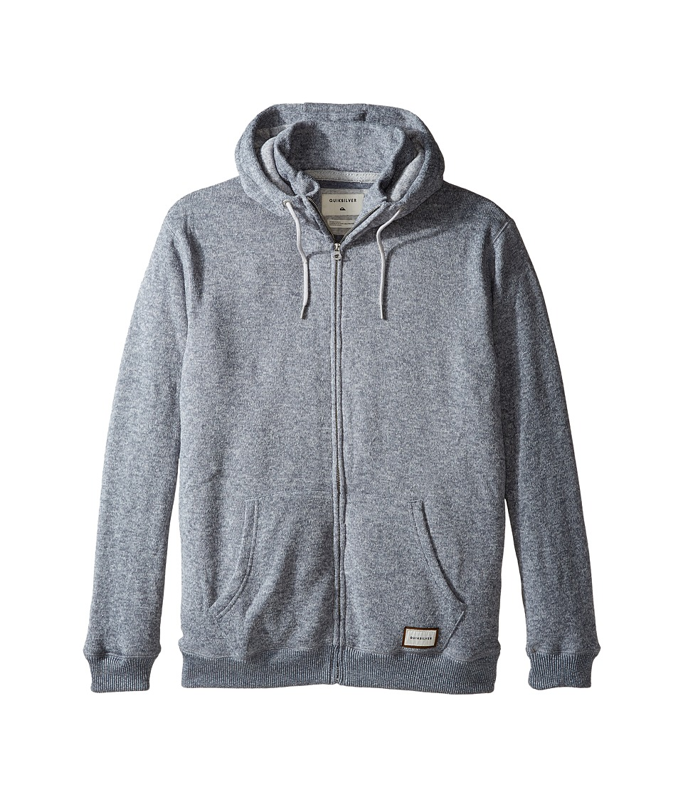 Quiksilver - Keller Polar Fleece Zip-Up Sweatshirt (Light Grey Heather) Men's Sweatshirt
