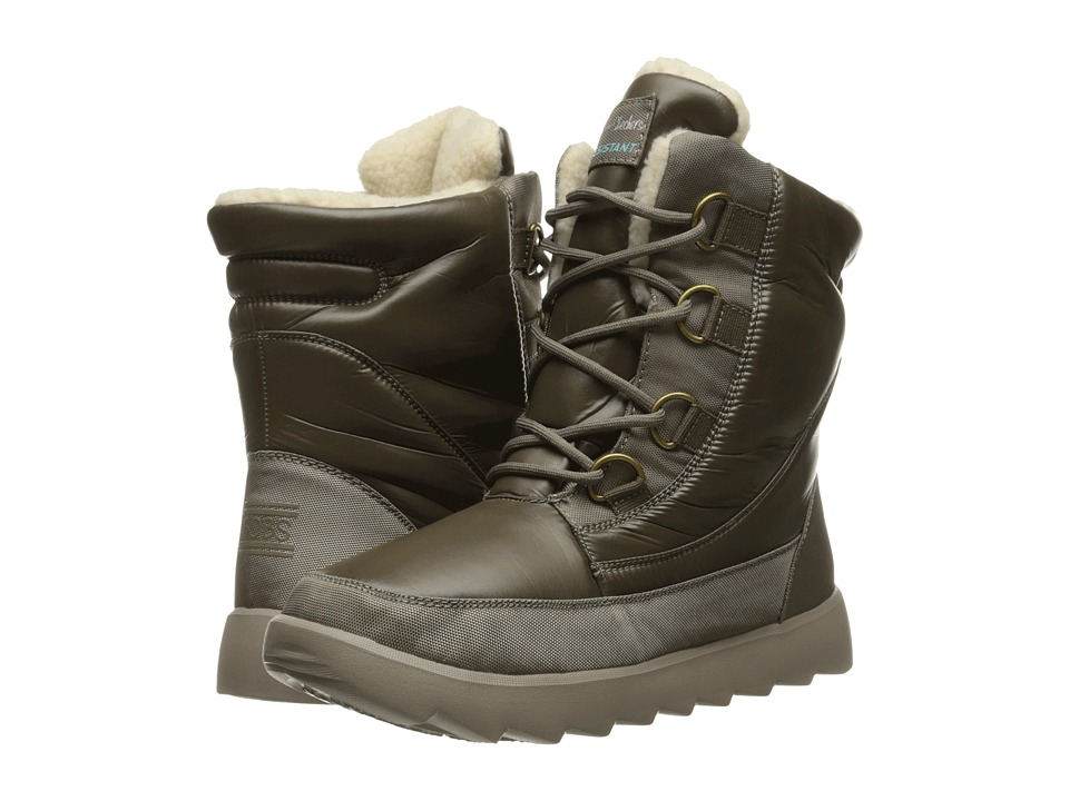 BOBS from SKECHERS - Mementos - Snow Cap (Taupe) Women's Lace-up Boots