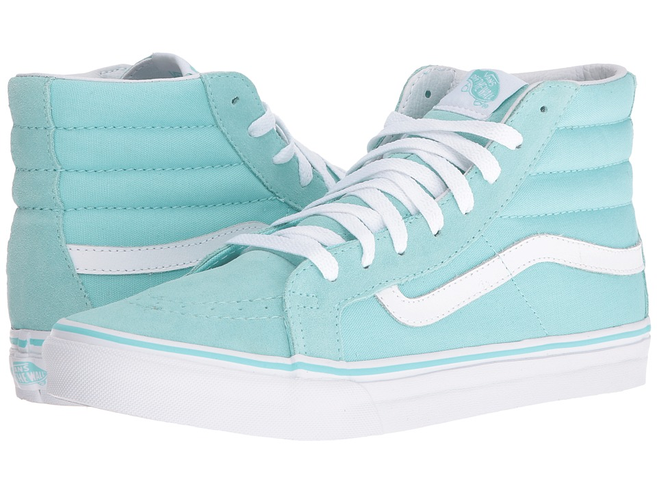 Vans - SK8-Hi Slim (Aruba Blue/True White) Skate Shoes