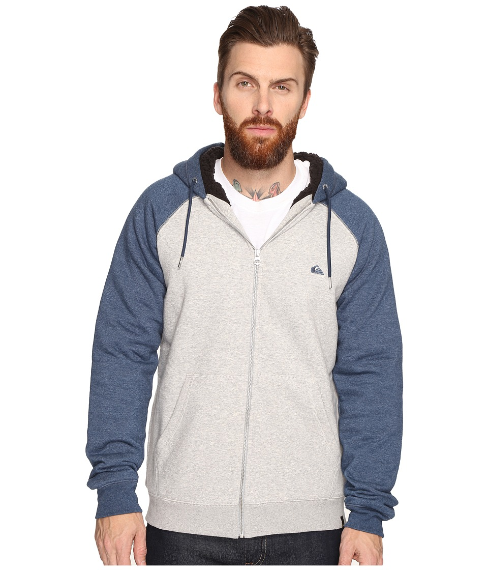 Quiksilver - Block Outback Sherpa Zip Sweatshirt (Light Grey Heather) Men's Sweatshirt