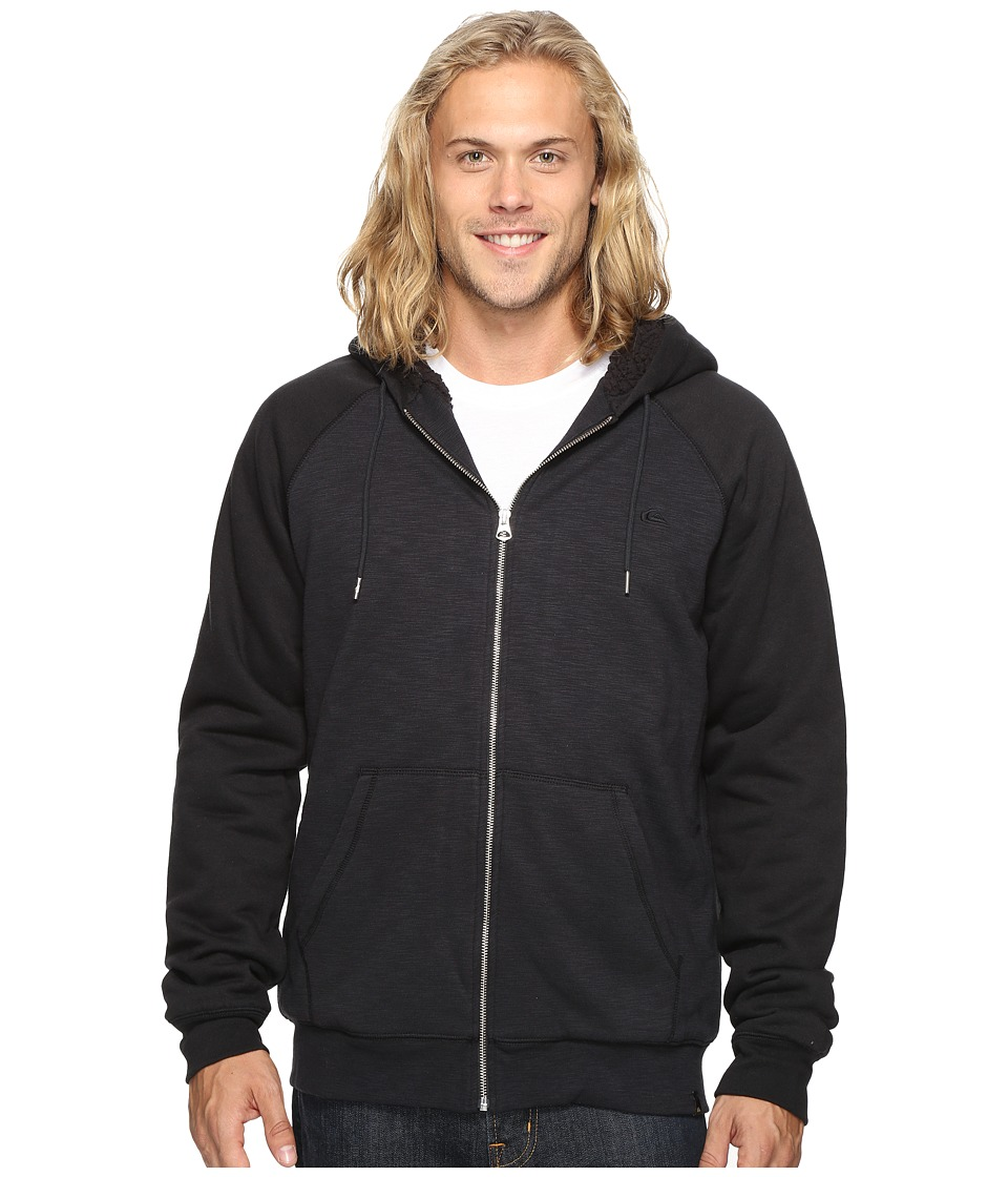 Quiksilver - Block Outback Sherpa Zip Sweatshirt (Tarmac) Men's Sweatshirt