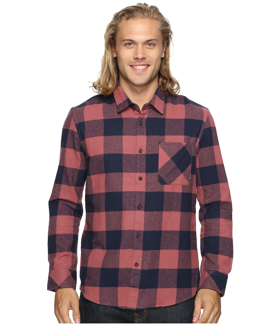 Quiksilver - Motherfly Classic Woven Button Up Flannel (Wild Ginger) Men's Clothing
