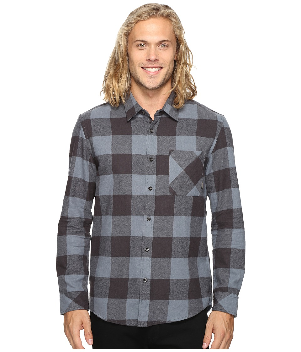 Quiksilver - Motherfly Classic Woven Button Up Flannel (Tarmac) Men's Clothing