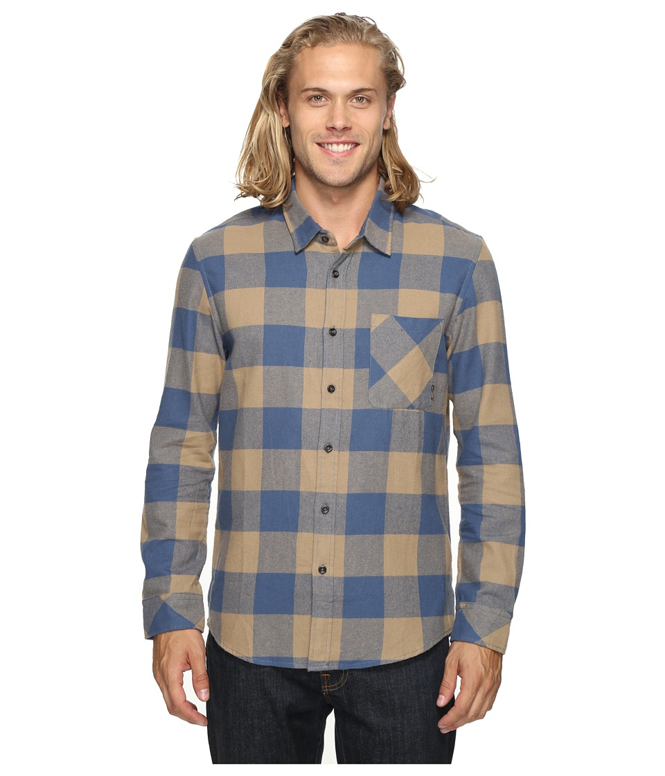 Quiksilver - Motherfly Classic Woven Button Up Flannel (Elmwood) Men's Clothing