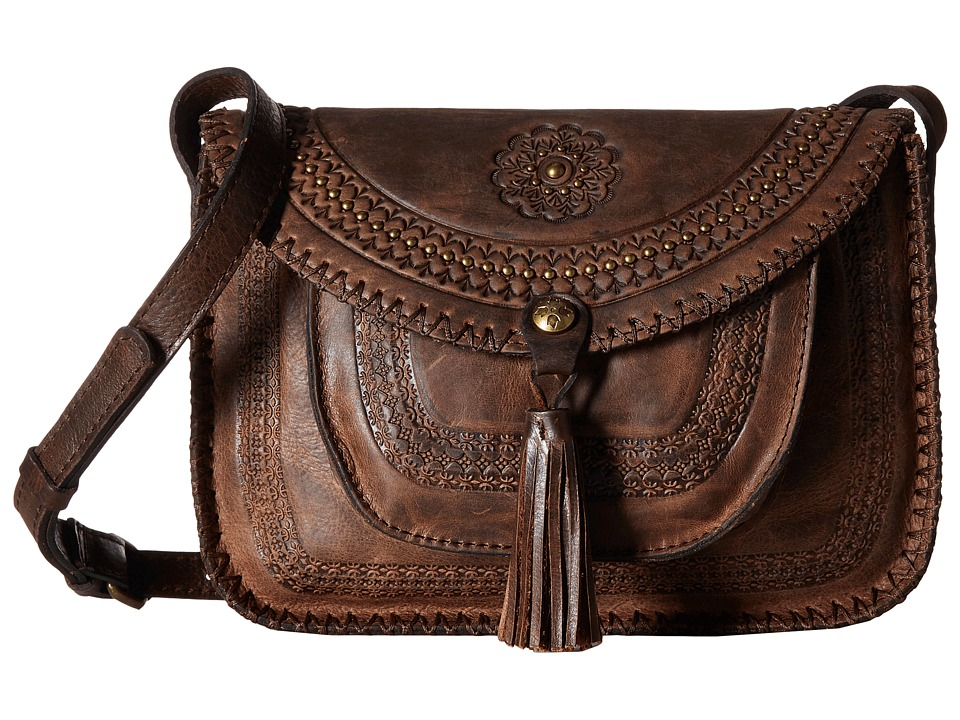 Patricia Nash - Beaumont Flap Crossbody (Chocolate 1) Handbags