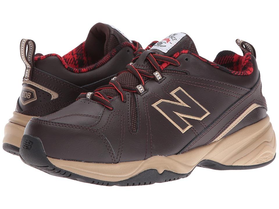 New Balance - MX608v4 (Brown/Red) Men's Walking Shoes