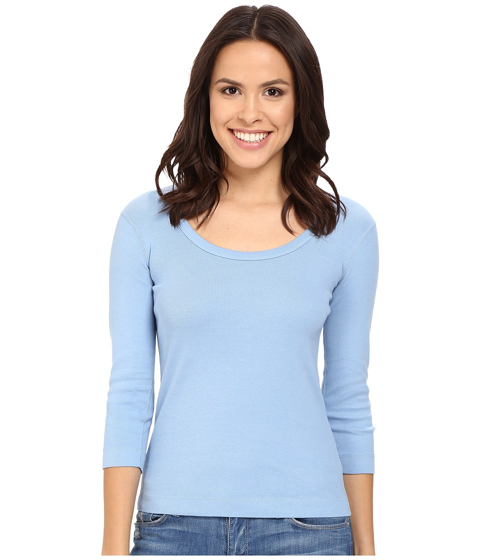 Three Dots 3/4 Sleeve Scoop Neck (Vintage Wash) Women