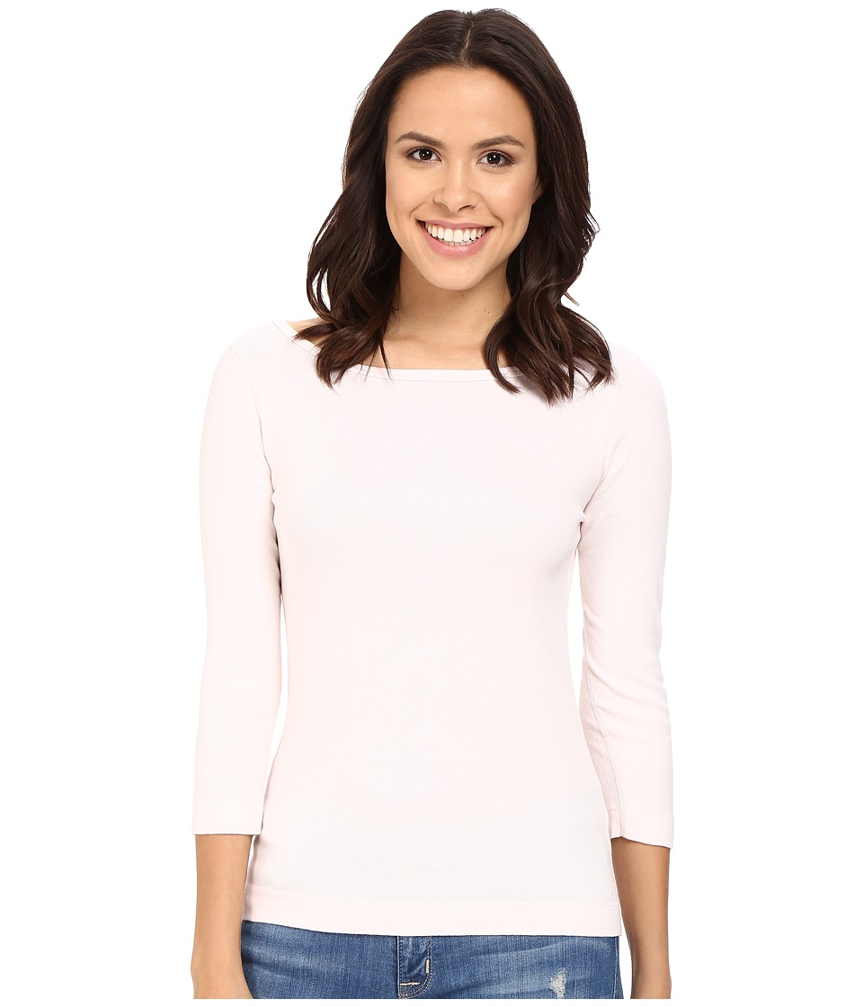 Three Dots - 3/4 Sleeve British Tee (Hint of Blush) Women's Long Sleeve Pullover