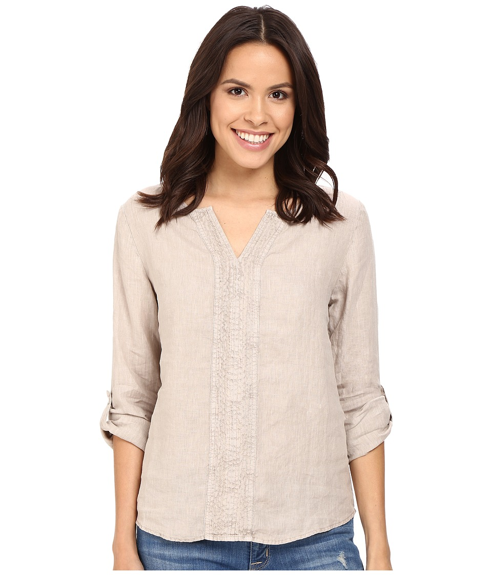 Three Dots - Yana Long Sleeve Top (Taupe Sand) Women's Long Sleeve Pullover