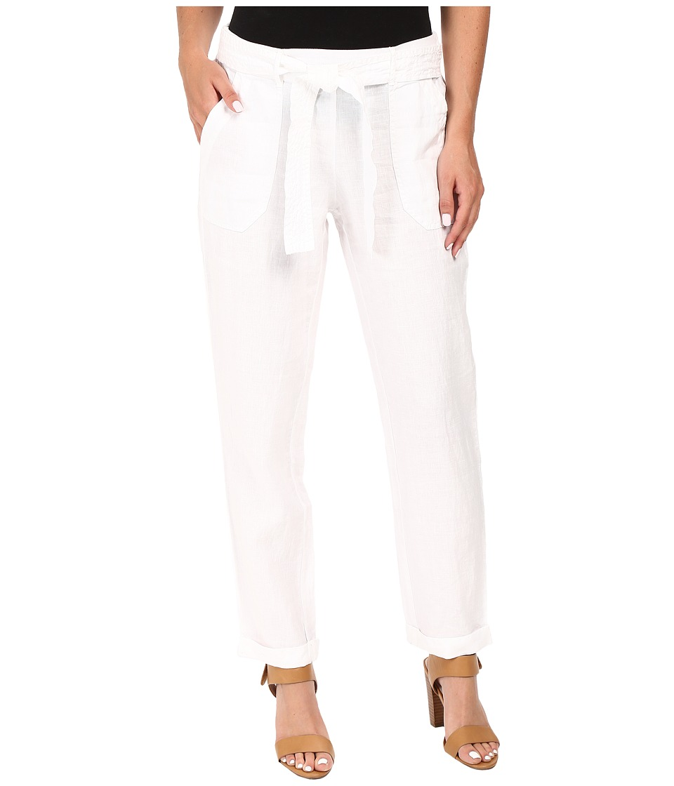 Three Dots - Sherin Rolled Pants (White) Women's Casual Pants