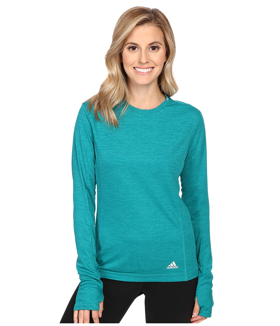 adidas - Supernova Long Sleeve Tee (Equipment Green) Women's Workout