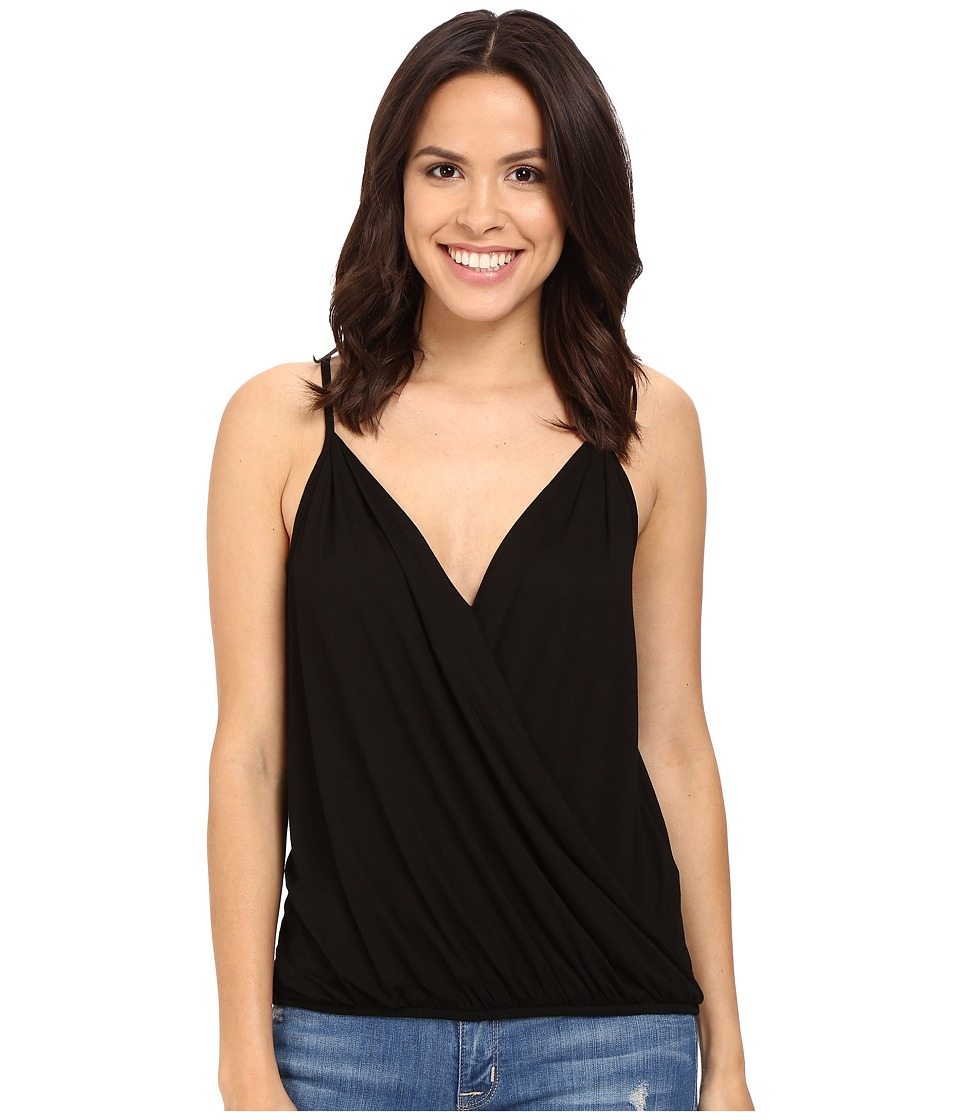Three Dots - Khandia Crossover Top (Black) Women's Clothing
