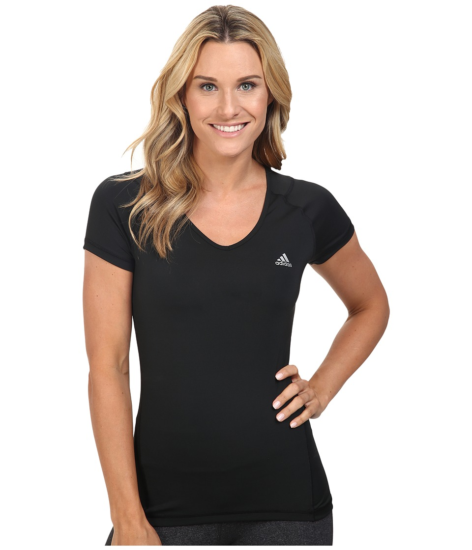 adidas - Techfit Short Sleeve (Black) Women's T Shirt
