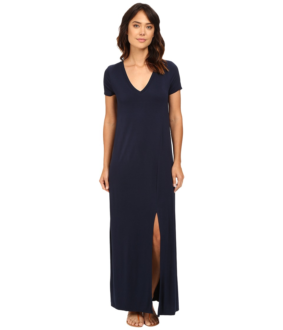 Three Dots Connie T-Shirt Maxi Dress (Night Iris) Women