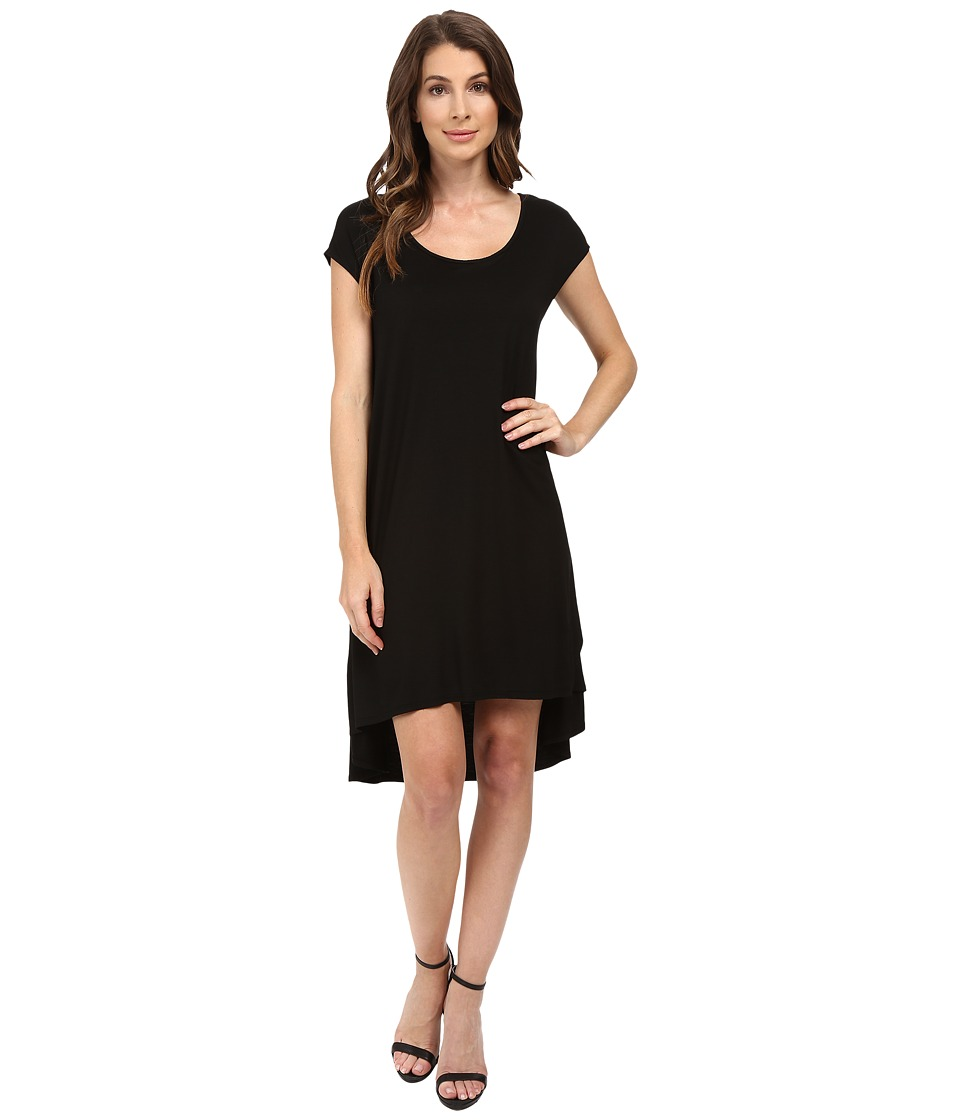 Three Dots Tracy Easy High-Low Dress (Black) Women