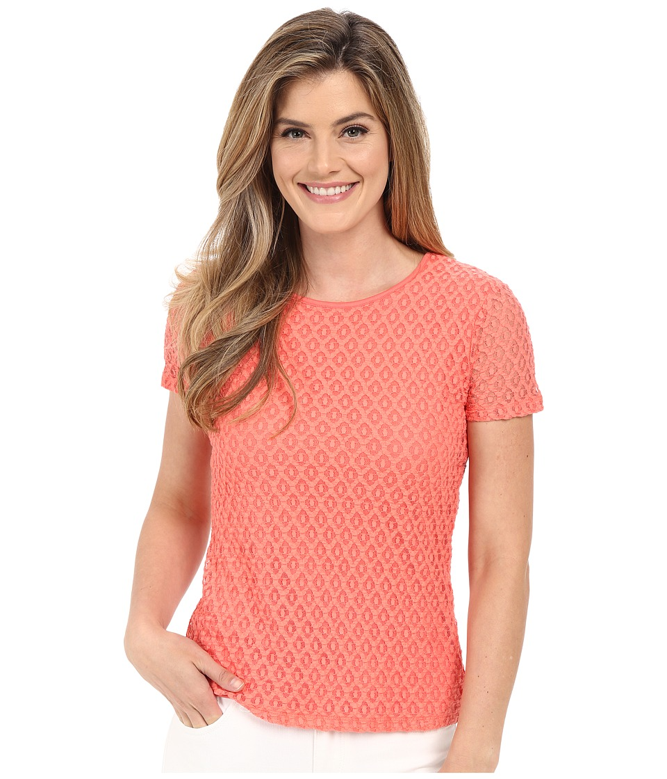 Calvin Klein - Stretch Lace Top (Porcelain Rose) Women's Clothing
