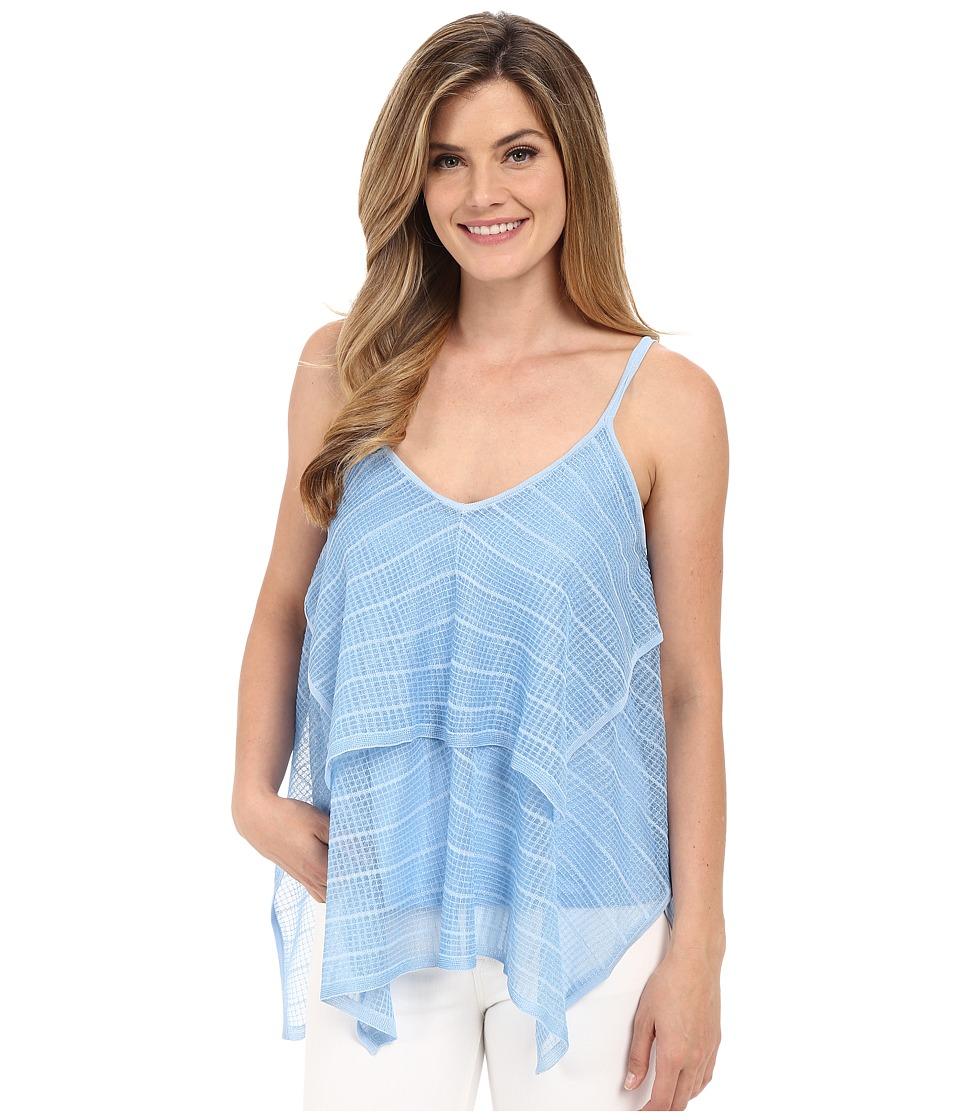 Calvin Klein - Ruffle Layer Shell (Iceburg) Women's Sleeveless