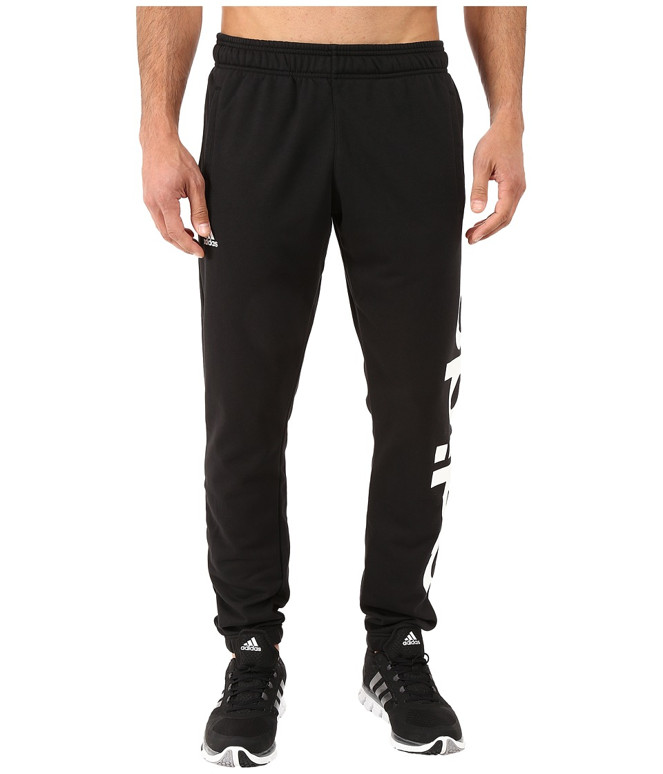 adidas - Essential Linear Logo Tapered Pants (Black/White) Men's Casual Pants
