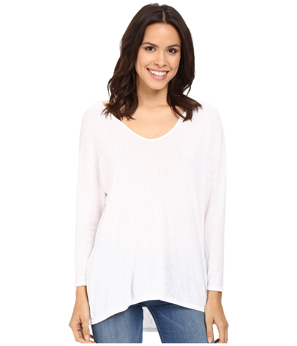 Three Dots - Marcy 3/4 Sleeve Top (White) Women's Clothing
