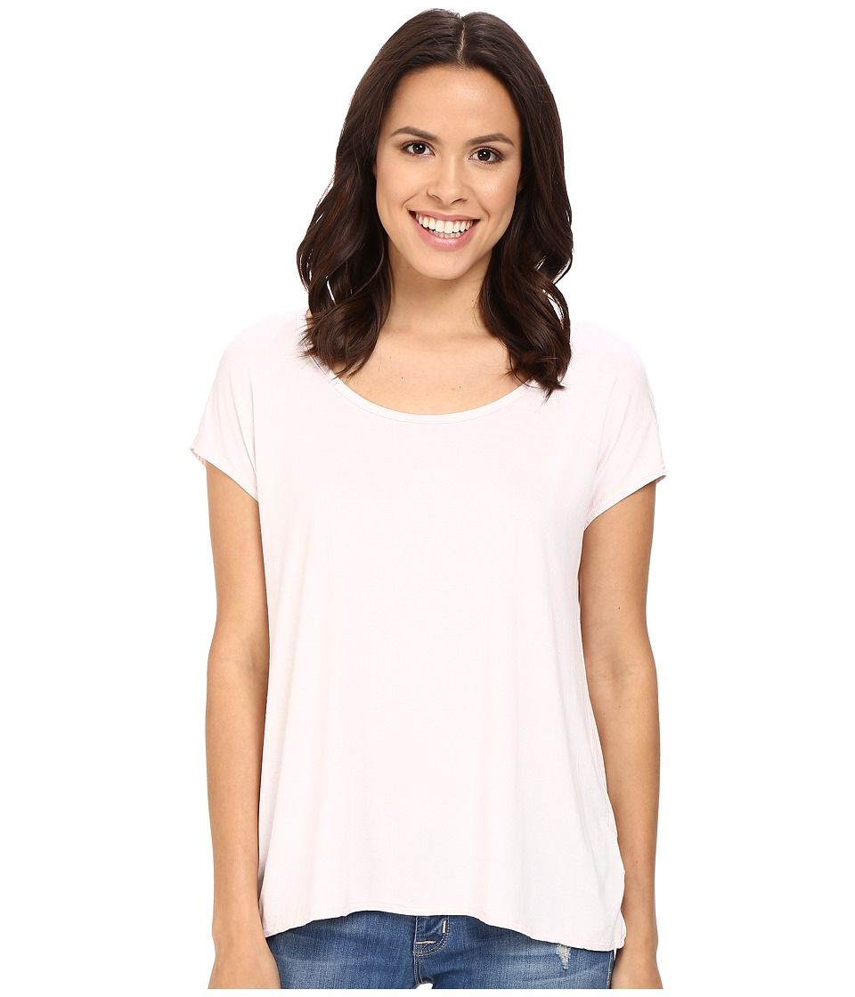 Three Dots - Cap Sleeve Relaxed Tee (Hint of Blush) Women's Short Sleeve Pullover