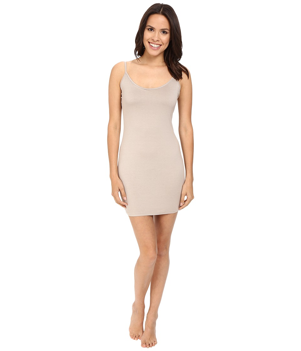 Three Dots Layering Slip Dress w/Adjustable Straps (Taupe Sand) Women