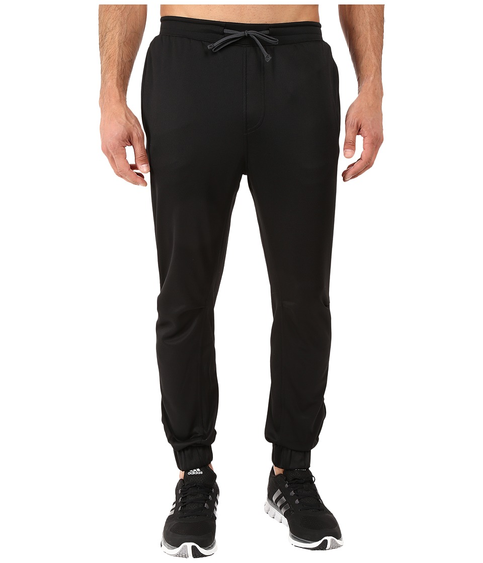 adidas - S1 Fleece Jogger Pants (Black/Black) Men's Casual Pants