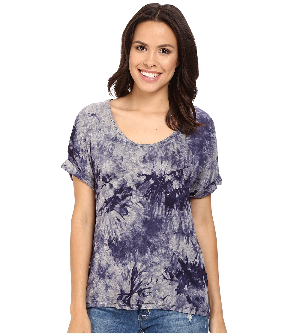 Three Dots - Nadine Scoop Neck Dolman T-Shirt (Night Iris) Women's T Shirt