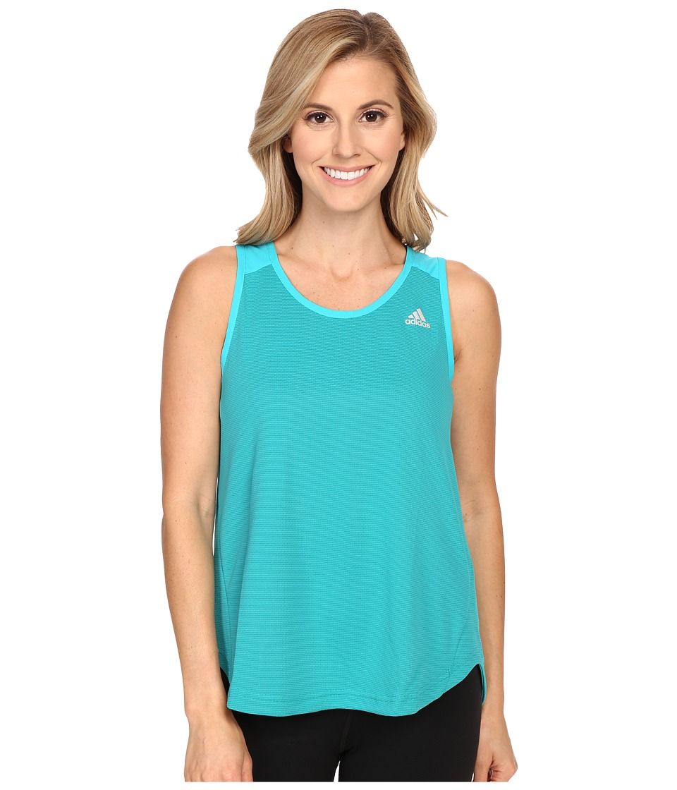 adidas - Run Tank Top (Equipment Green) Women's Sleeveless