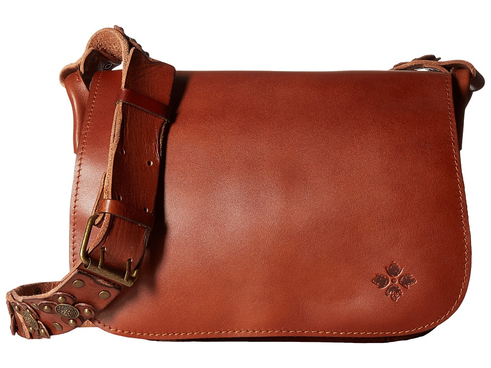 Patricia Nash - Rosa Square Flap Saddle Bag (Tan) Bags