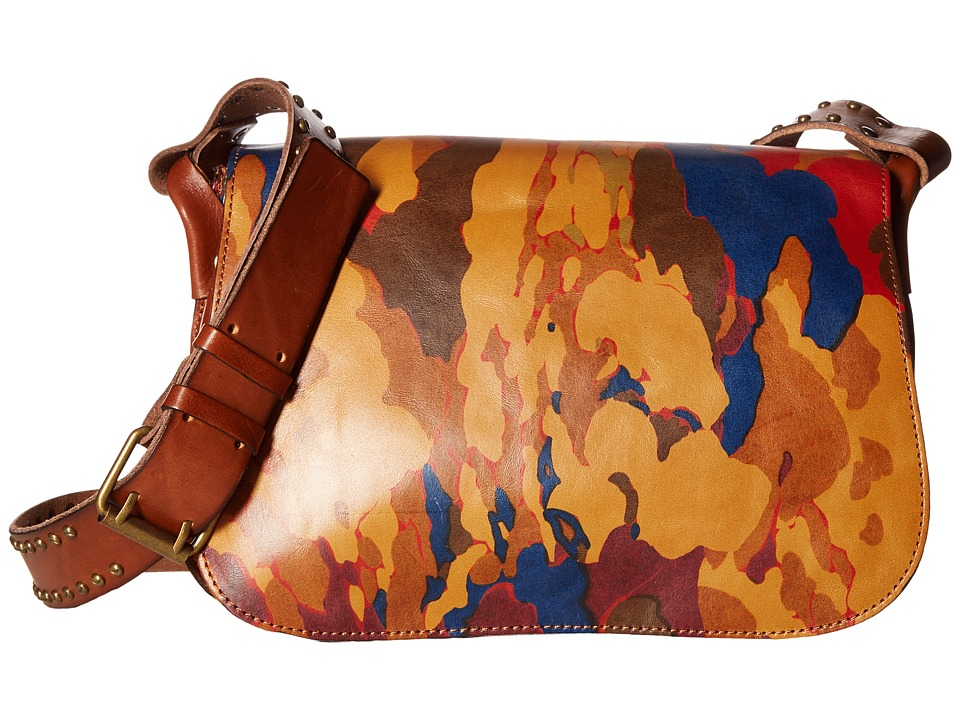 Patricia Nash - Rosa Square Flap Saddle Bag (Parisian Camo) Bags