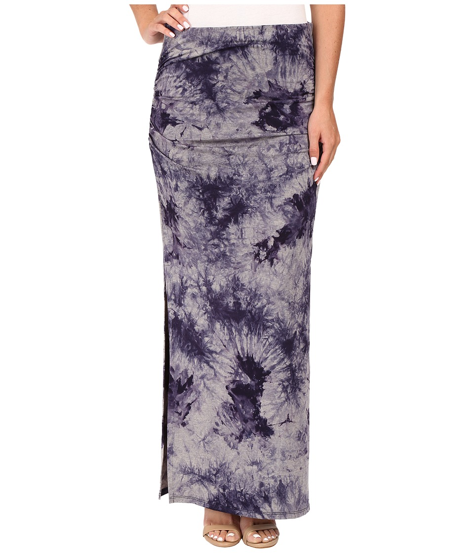 Three Dots - Lea Shired Maxi Skirt w/ Side (Night Iris) Women's Skirt