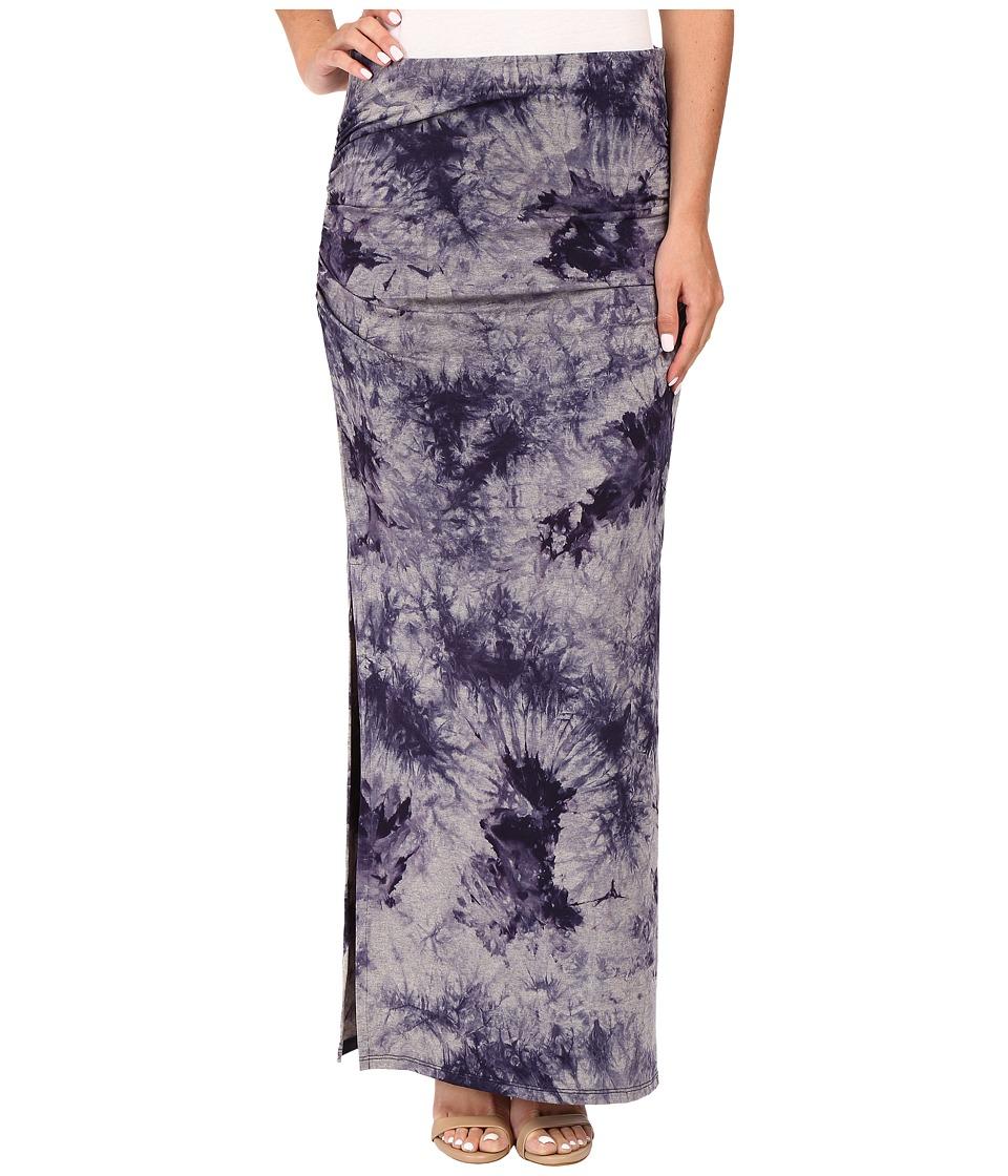 Three Dots - Lea Shired Maxi Skirt w/ Side (Night Iris) Women's Skirt