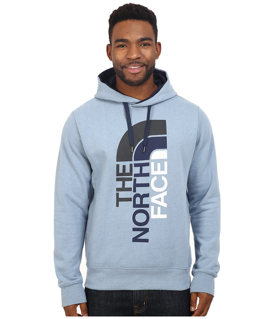 The North Face - Trivert Pullover Hoodie (Faded Denim Heather/Cosmic Blue Multi) Men's Sweatshirt