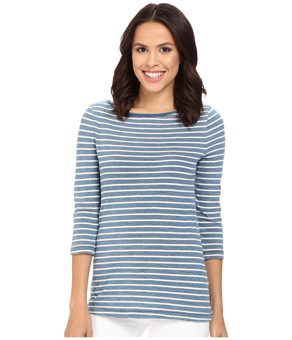 Three Dots - Rosie 3/4 Sleeve British Indigo T-Shirt (Vintage Wash) Women's T Shirt